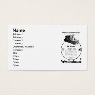 Baldwin-Westinghouse Locomotive 1923 Business Card