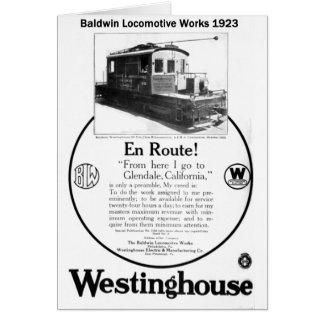Baldwin-Westinghouse Locomotive 1923 Card Note Card
