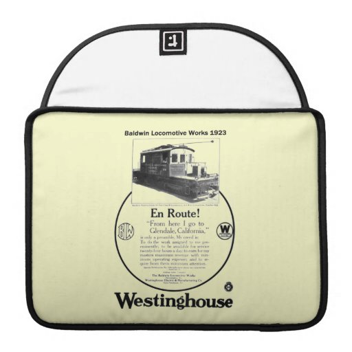 Baldwin-Westinghouse Locomotive 1923 Macbook Pro MacBook Pro Sleeve