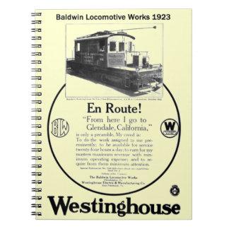 Baldwin-Westinghouse Locomotive 1923 Notebook