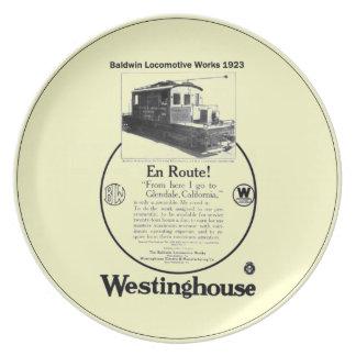 Baldwin-Westinghouse Locomotive 1923 Plate