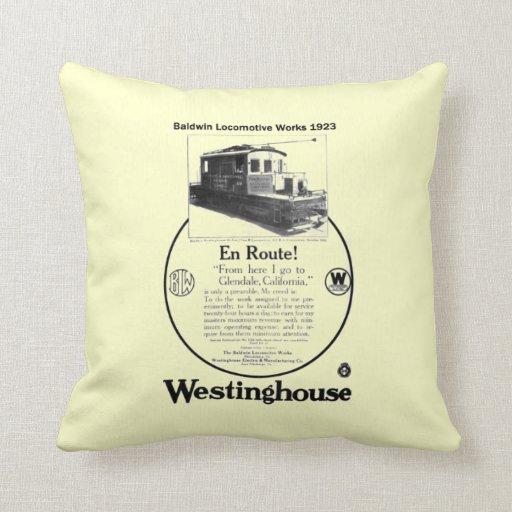 Baldwin-Westinghouse Locomotive 1923 Throw Pillow
