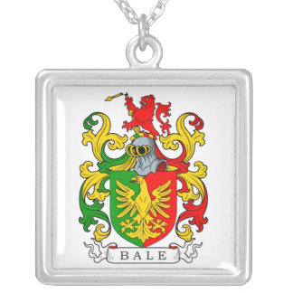 Bale Coat of Arms I Square Pendant Necklace