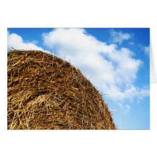 Bale of straw card