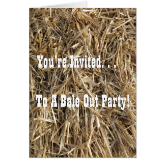 Bale Out Party! Card