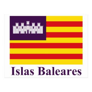 Balearic Island señalan por medio de una bandera c Tarjetas Postales