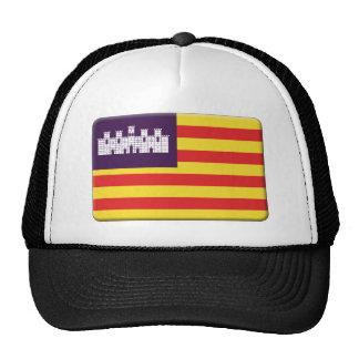 Balearic Island señalan por medio de una bandera P Gorros Bordados