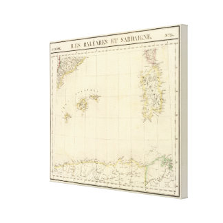 Balearic Islands and Sardinia Europe 25 Stretched Canvas Print