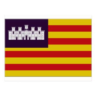 Balearic Islands Flag Postcard