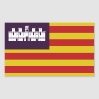 Balearic Islands Flag Rectangle Stickers