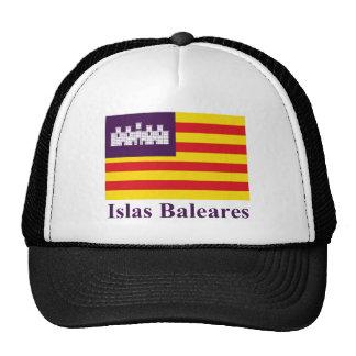 Balearic Islands flag with name Trucker Hat