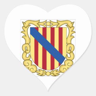 Balearic Islands (Spain) Coat of Arms Heart Sticker