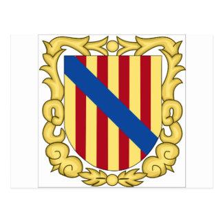 Balearic Islands (Spain) Coat of Arms Postcard