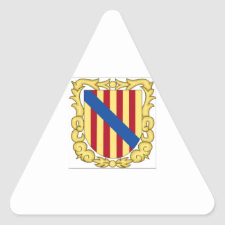 Balearic Islands (Spain) Coat of Arms Triangle Sticker