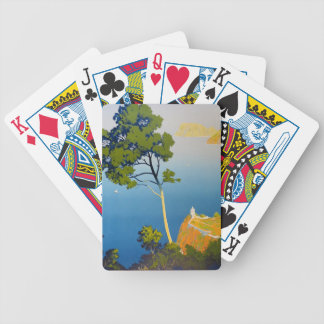 Balearic Islands Vintage French Travel Bicycle Playing Cards