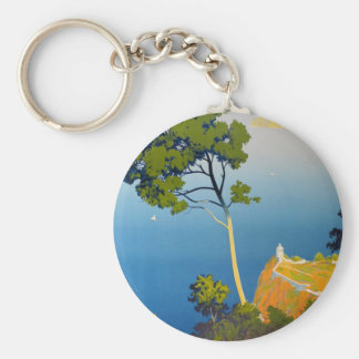 Balearic Islands Vintage French Travel Keychain