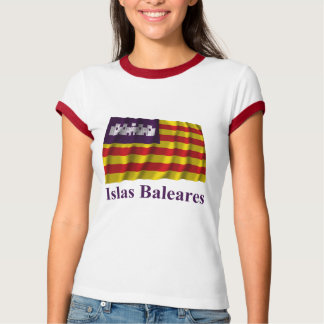 Balearic Islands waving flag with name T-Shirt
