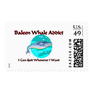 Baleen Whale Addict Postage Stamp