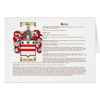 Bales (meaning) card
