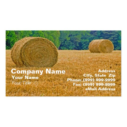 Bales of Hay Business Card Template