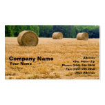 Bales of Hay Double-Sided Standard Business Cards (Pack Of 100)