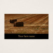 bales of hay - hay for sale - farm business card