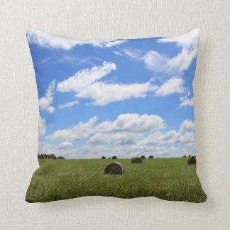 Bales of Summer 3 Throw Pillow