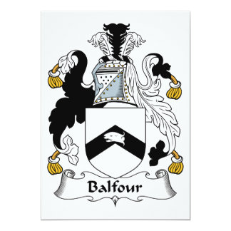 Balfour Family Crest Personalized Invites