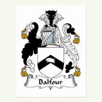 Balfour Family Crest Postcard