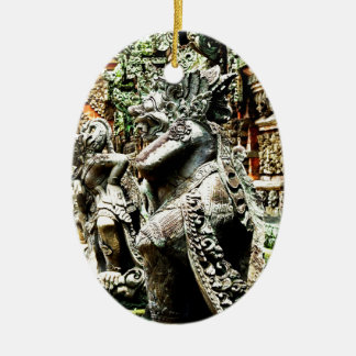 Bali Adorno Navideño Ovalado De Cerámica