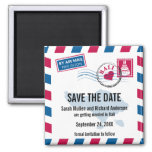 Bali Air Mail Wedding Save the Date Refrigerator Magnet