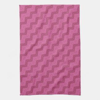 Bali Batik Diagonal Chevrons Pink Kitchen Towel