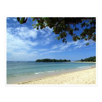bali beach postcard