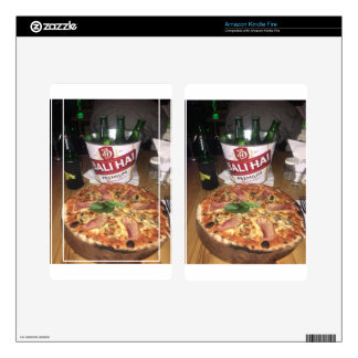 Bali beer and Pizza Decal For Kindle Fire