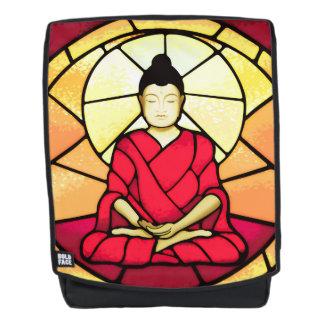 Bali buddha stain glass window backpack