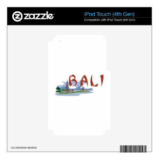 Bali Decal For iPod Touch 4G
