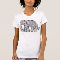 """""""BALI ELEPHANT"""" Soft Destroyed Tee For Women"""