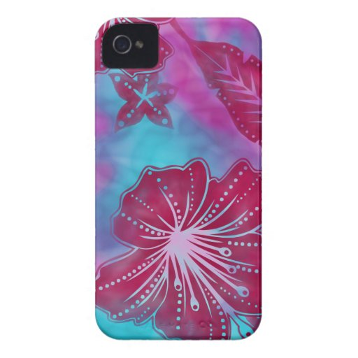 Bali Flower Batik Tropical iPhone 4 Case