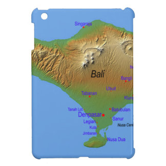 Bali Holliday Map Cover For The iPad Mini