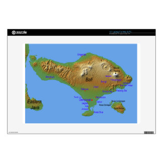 Bali Holliday Map Decals For Laptops