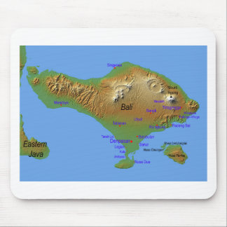 Bali Holliday Map Mouse Pad