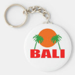 Bali, Indonesia Basic Round Button Keychain
