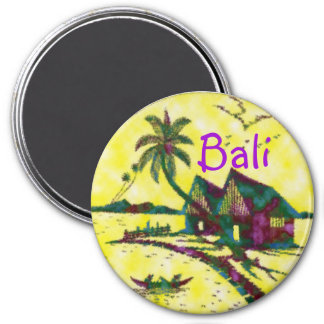 Bali Indonesia Imán Redondo 7 Cm