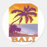 Bali, Indonesia Pegatina Redonda