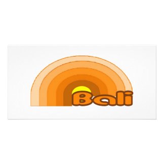 Bali, Indonesia Custom Photo Card