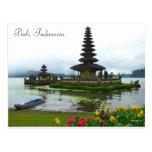 Bali, Indonesia - Pura Ulun Danu, Lake Bratan Postcard