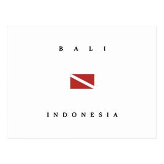 Bali Indonesia Scuba Dive Flag Postcard