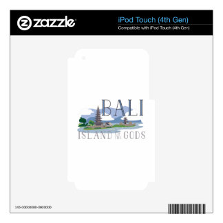 Bali Island Of Gods Decal For iPod Touch 4G