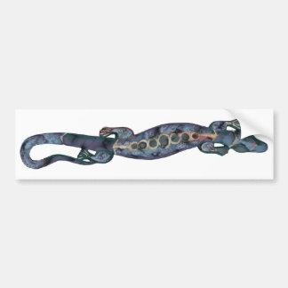 BALI lizard blue Bumper Sticker