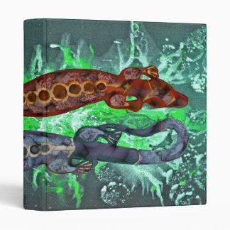 BALI lizard red blue   green splatter Binder